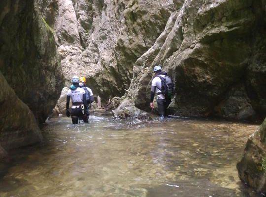 kanion Nevidio, kanioning
